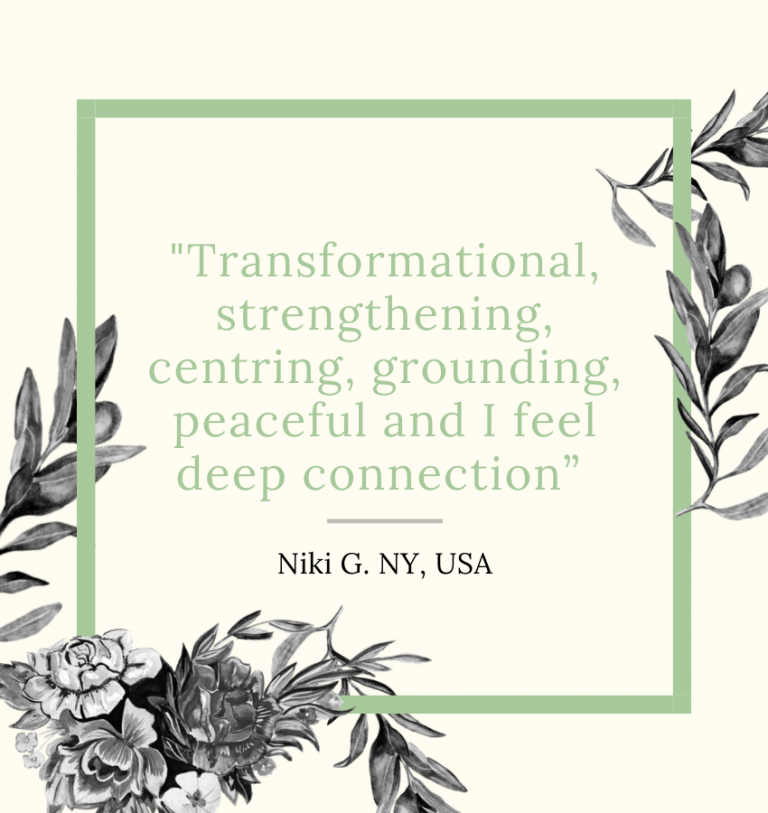 """I have really enjoyed connecting with Nadav and the others on this mantra class. It has been a source of serenity, knowledge, and guidance"""". (4)"""